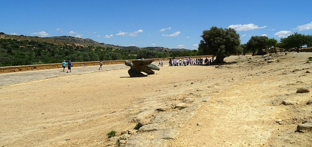 Valley of the Temples Agrigento Sicily Bronze Statue of Icarus