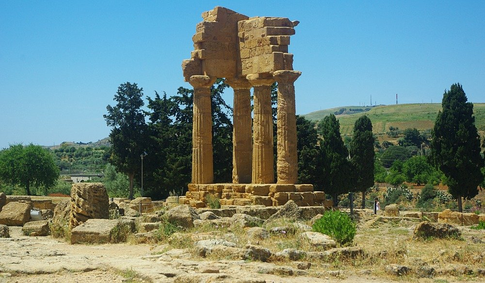 Valley of the Temples Agrigento Temple of the Dioscuri