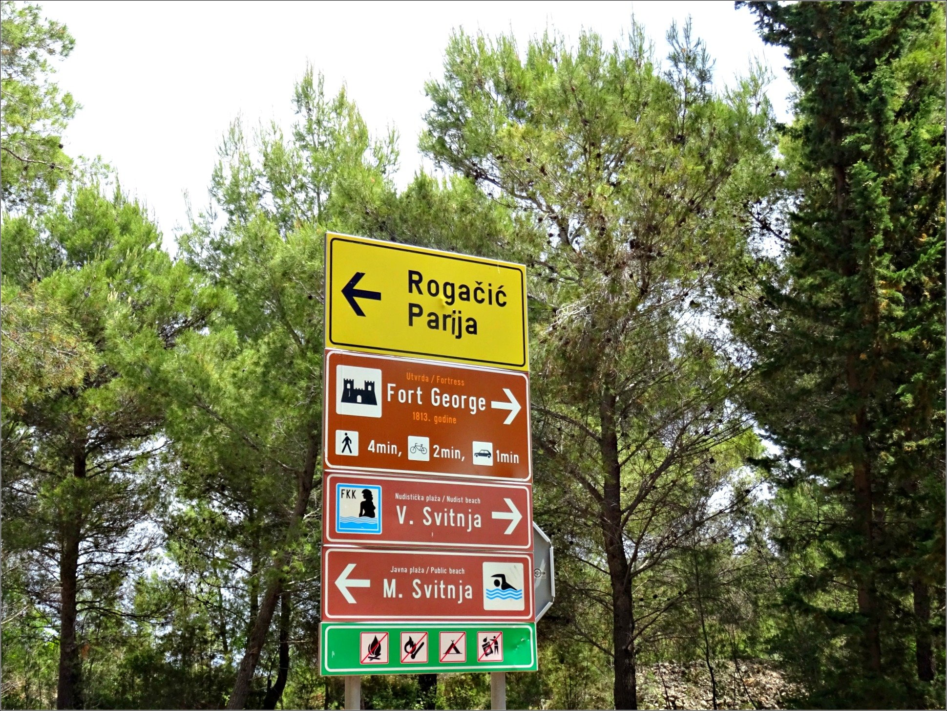 Vis Island Directional Signs