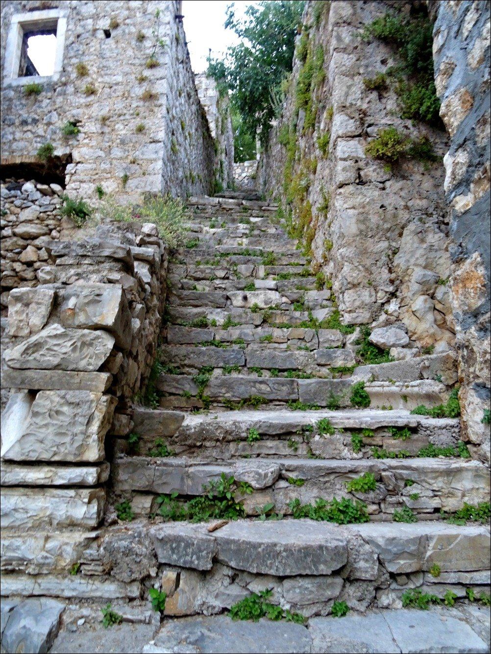 Climb these steps to Skradin Fortress