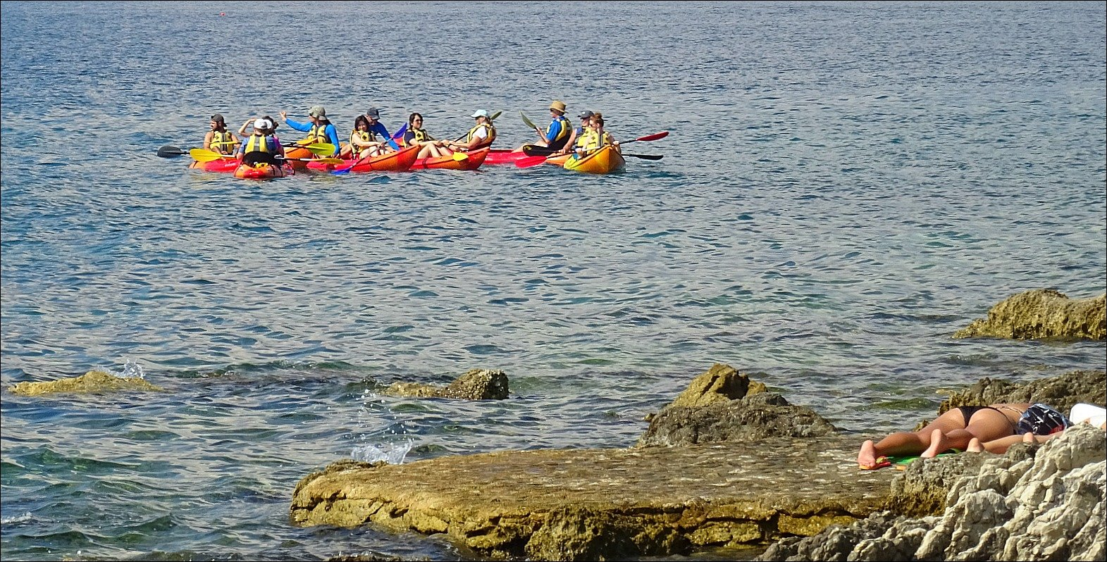 Kayaks off Bene Beach Marjan Split