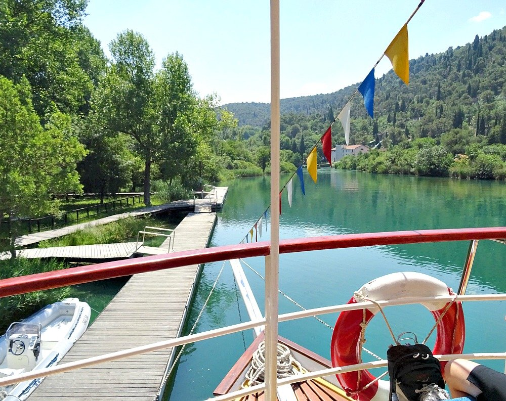 Boat pier and Boardwalk Krka National Park Croatia
