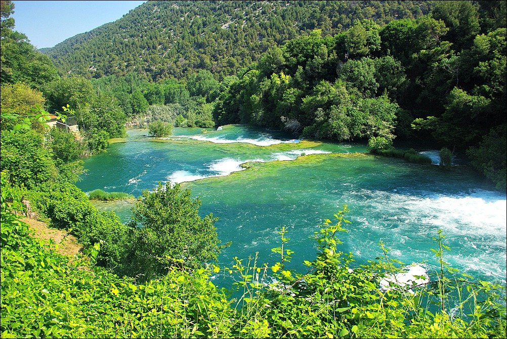 Krka National Park Looking Downstream from Viewpoint