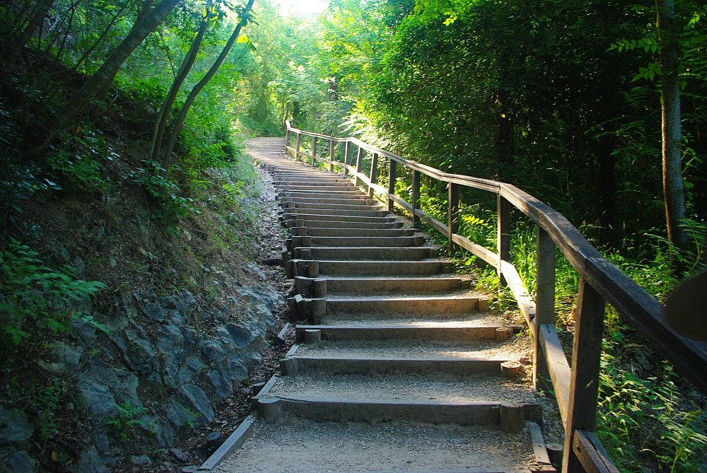 Krka National park Croatia walkway steps