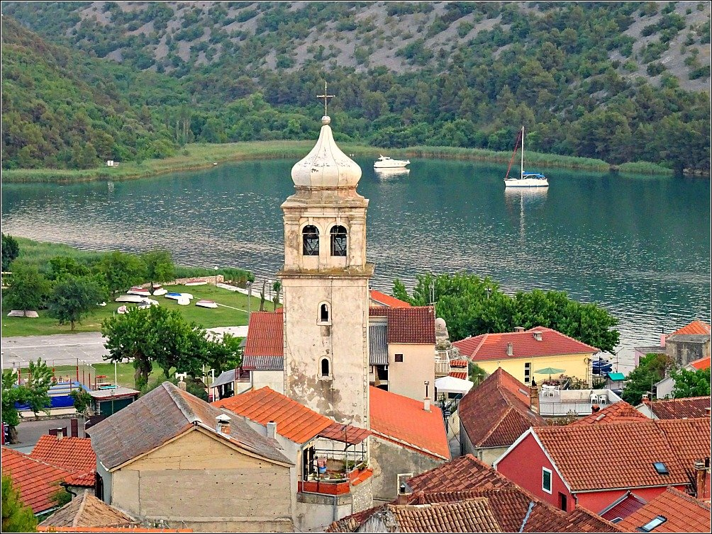 Church of the Blessed Virgin Mary Tower Skraden Croatia