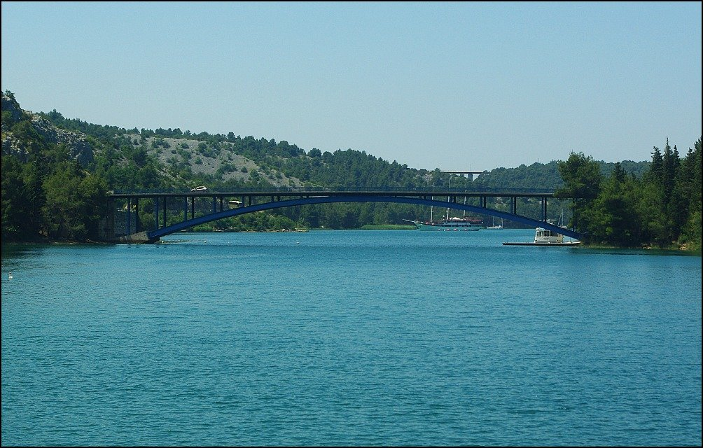 Bridge upstream of Skradin on the Krka River