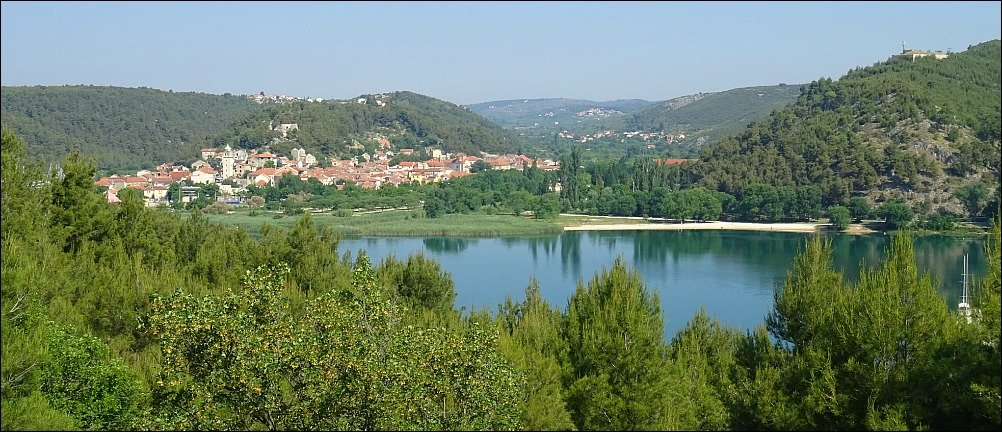 Skradin and the Krka River in Croatia
