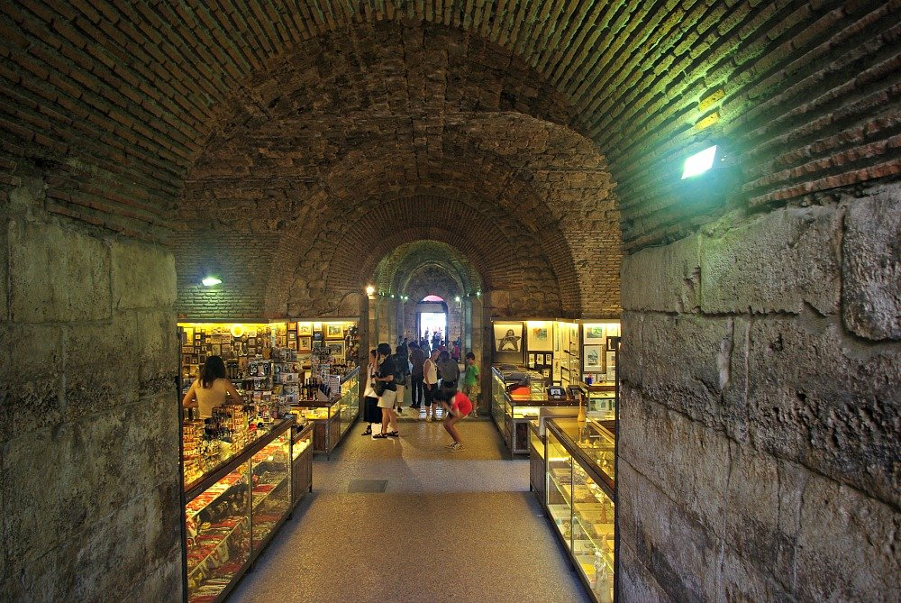 Shop in the Barrel Vaulted Stone basement
