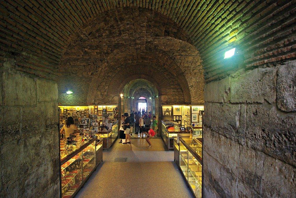 Diocletians Palace Barrel Vaulted Stone basement Split Croatia