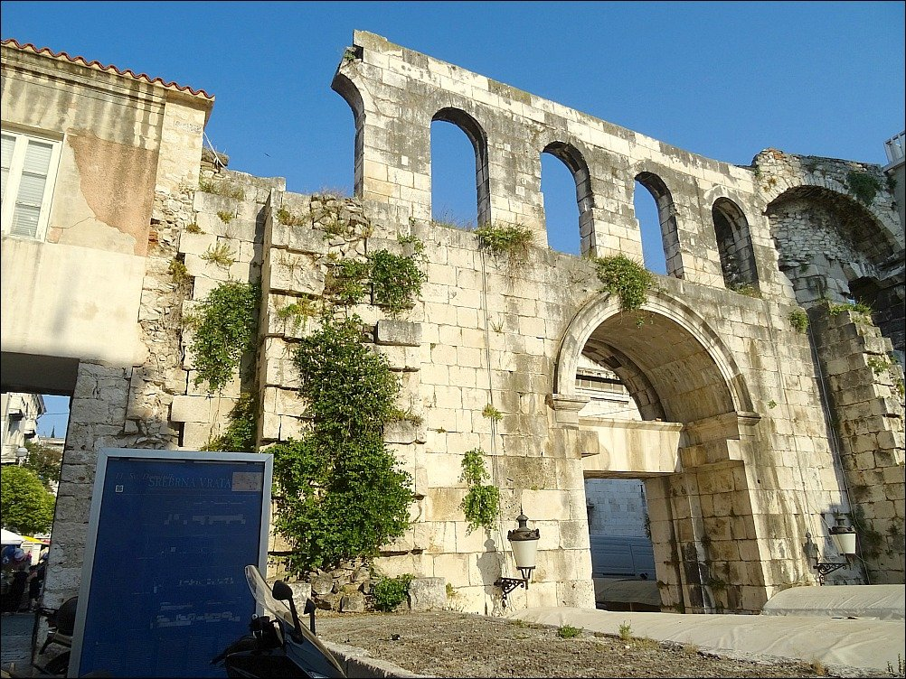 Split Diocletians Palace East or Silver Gate