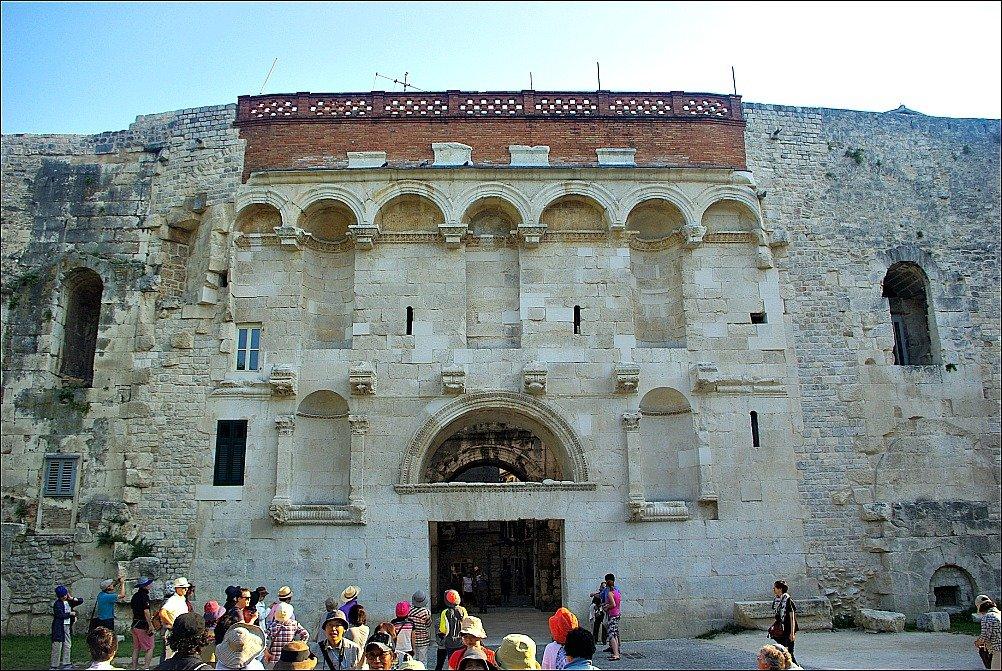Diocletians Palace Golden Gate Split Croatia