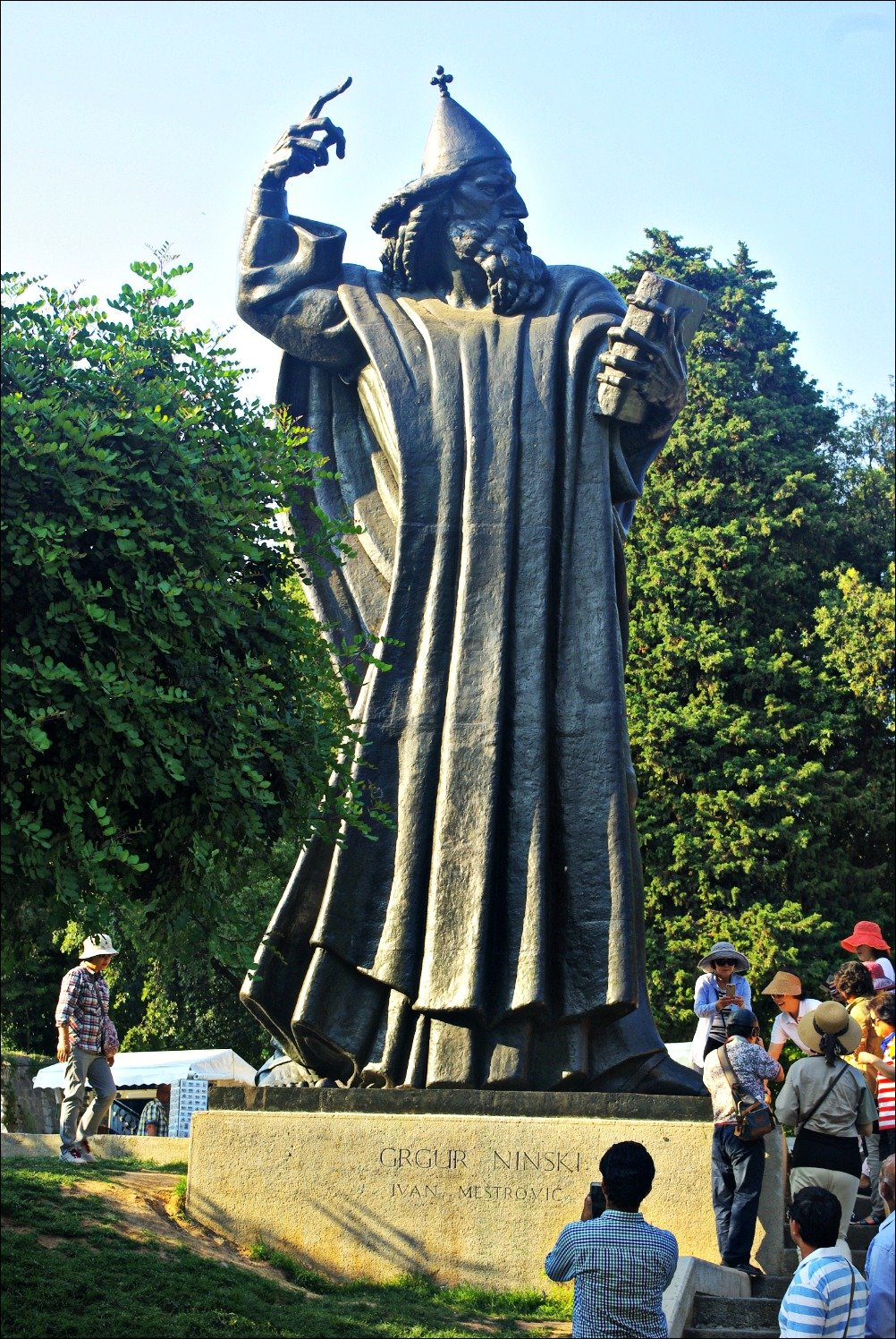 Gregory Bishop of Nin Statue Split Croatia