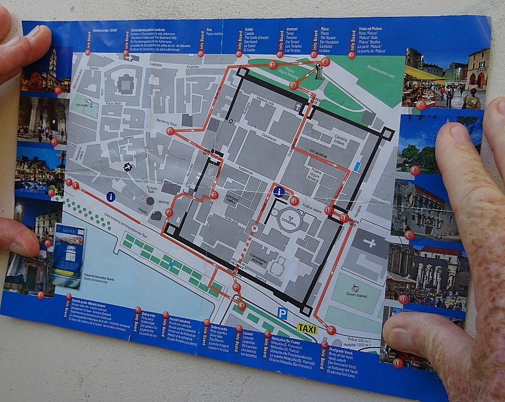 Map of Diocletians Palace Split Croatia
