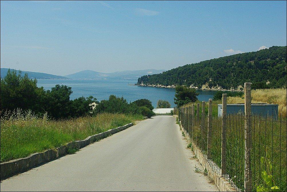 Marjan Downhill road to beach at Marjan Split Croatia