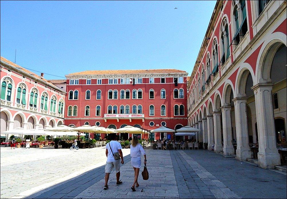 Prokurative or Republic Square in Split Croatia