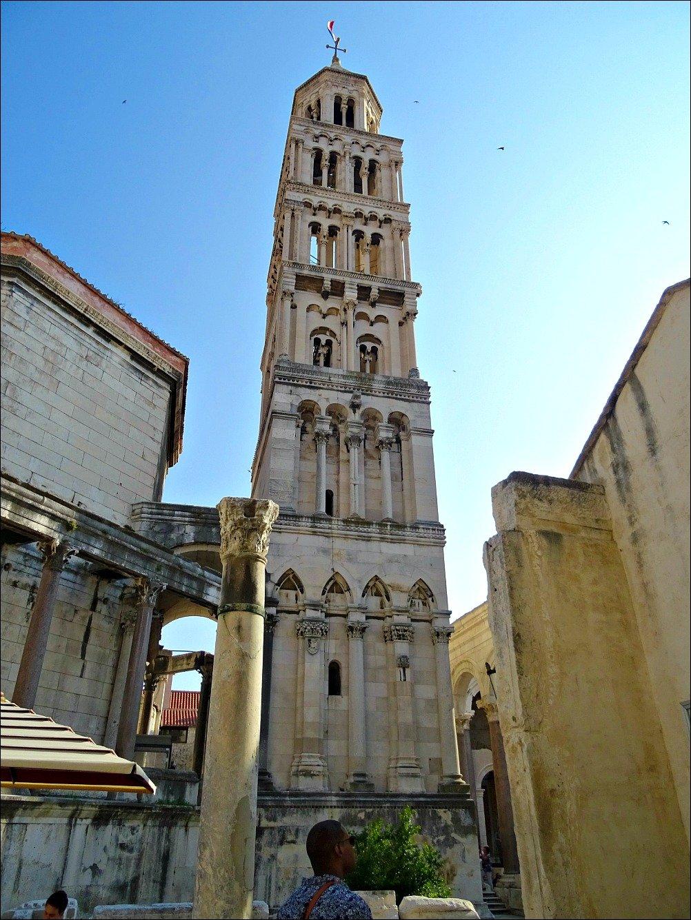 Diocletians Palance Saint Domnius Tower Split Croatia