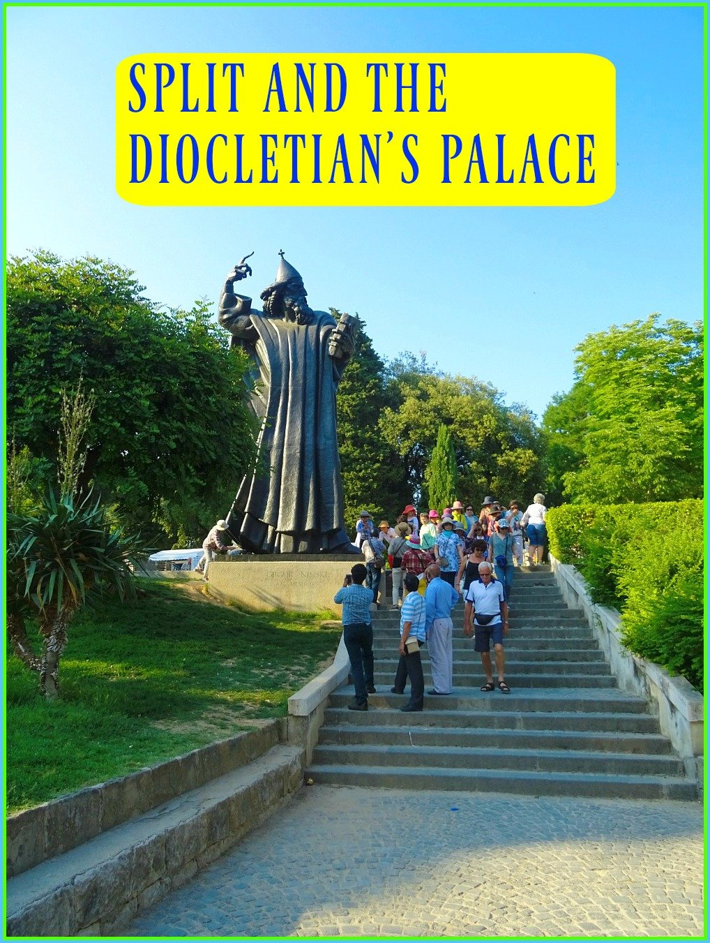 Split and the Diocletian's Palace. In Split it is possible to step into the grounds of a Roman Palace and be in a bustling modern city.