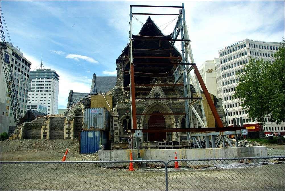 Christchurch Cathedral Damage New Zealand