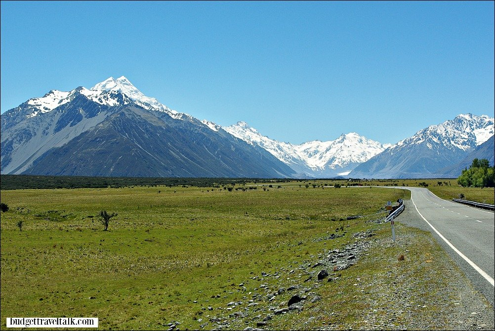 Mt. Cook the highest mountain in New Zealand