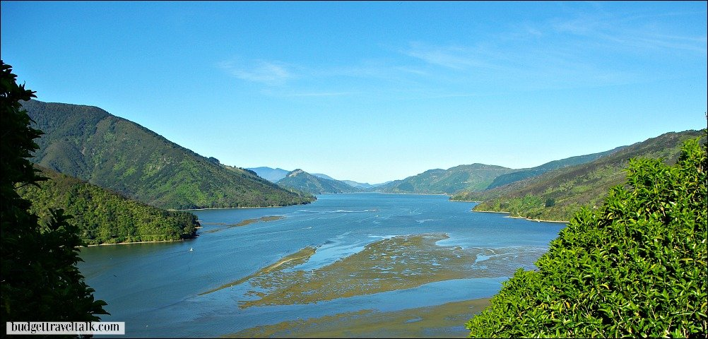 Pelorus Sound one of the Marlborough Sounds South Island of New Zealand