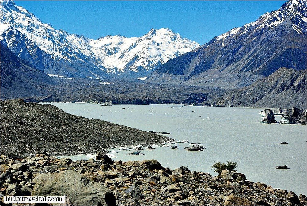 Hooker Glacier Lake New Zealand