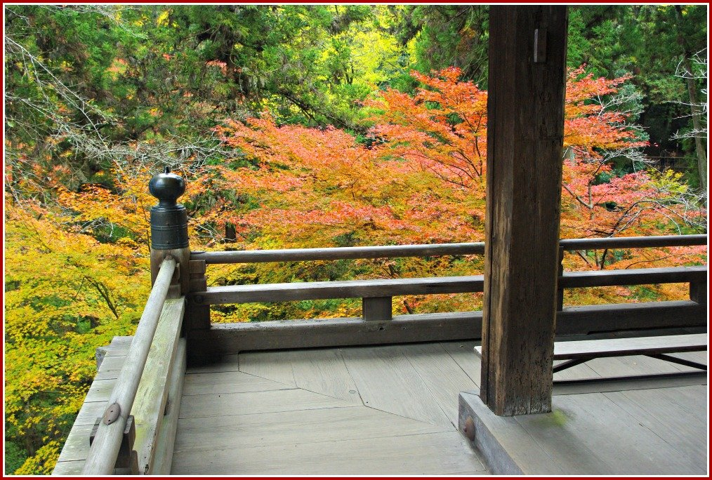 Autumn Colours from Main Hall Ishiyama-dera at Otsu Japan