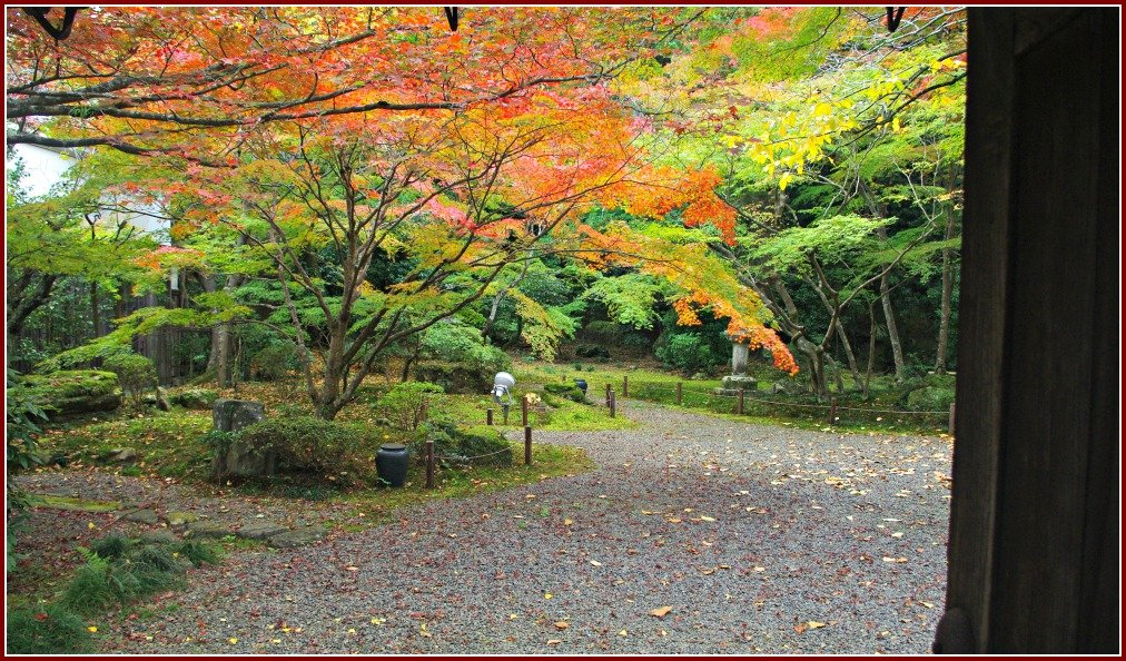 Crowd-free Ishiyama-dera in Japan