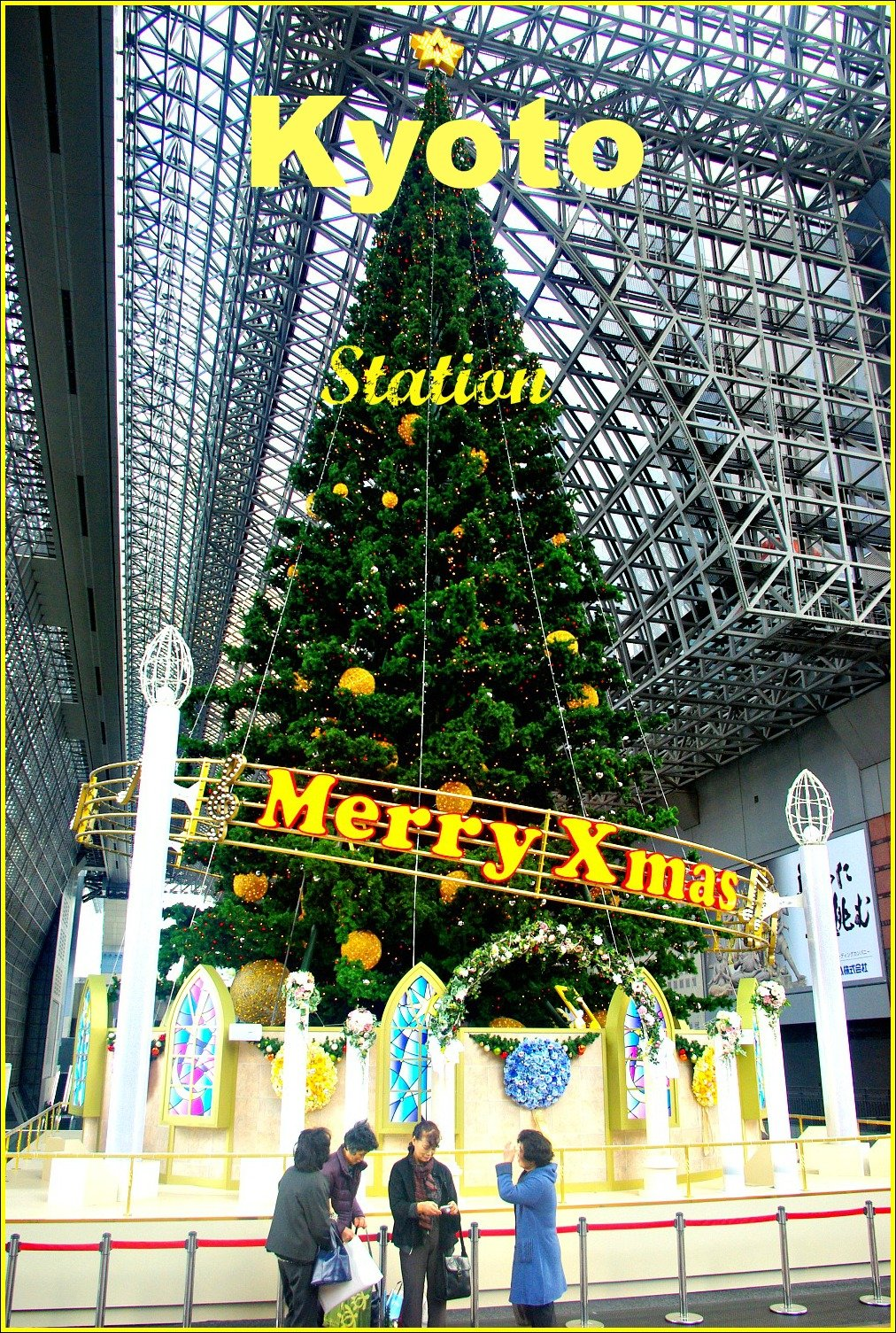 Kyoto Train Station Merry Xmas