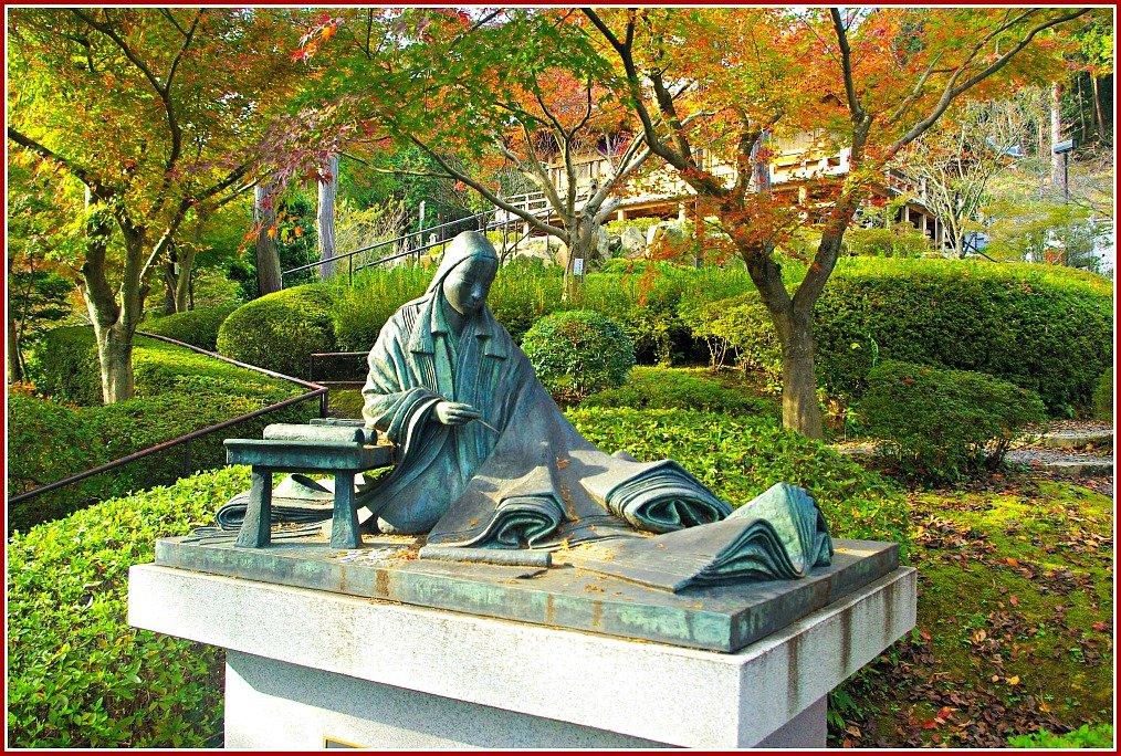 Statue of Shikibu Murasaki at Ishiyama-dera Temple Otsu Japan