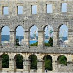 Pula a small Croatian town with a big Roman Amphitheatre