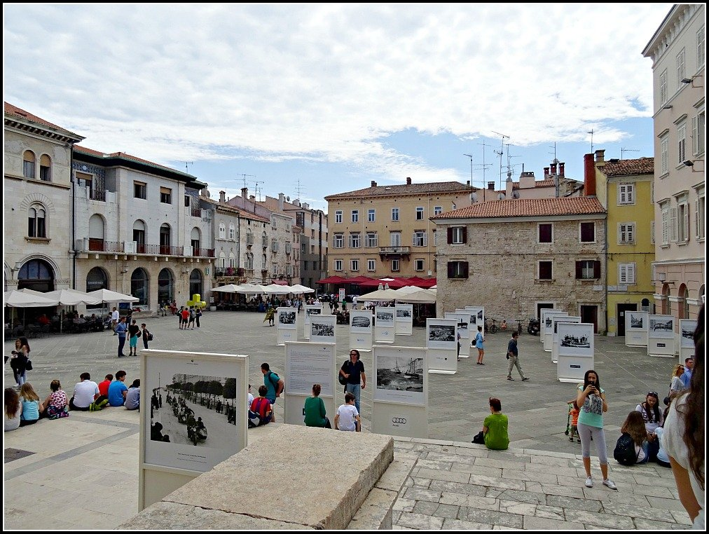 Pula Town Square was once a Roman Forum