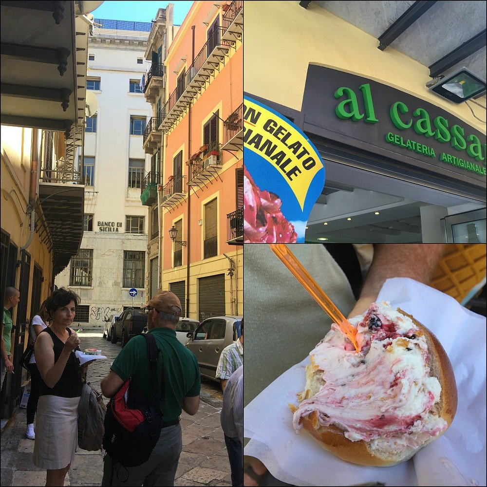 Palermo's Gelato in Brioche