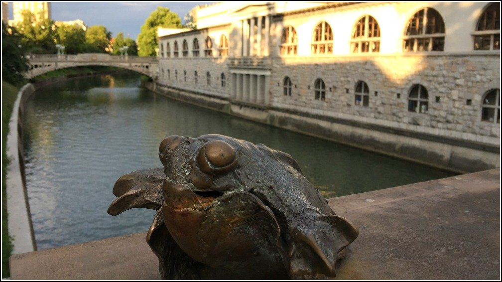 Ljubljana Butchers Bridge Frog