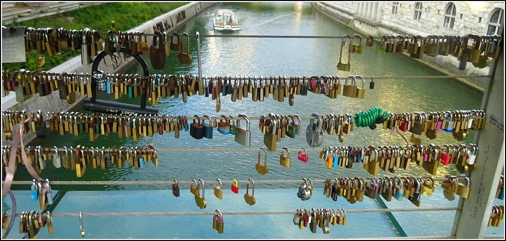 Ljubljana Love Locks Butchers Bridge
