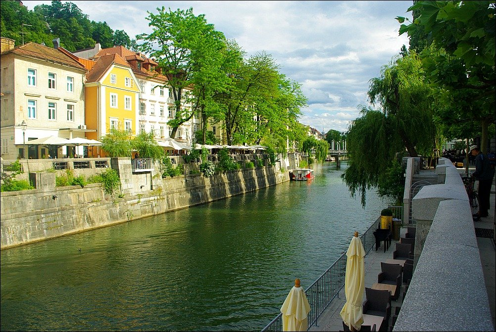 Ljubljana Riverside Cobblers Bridge