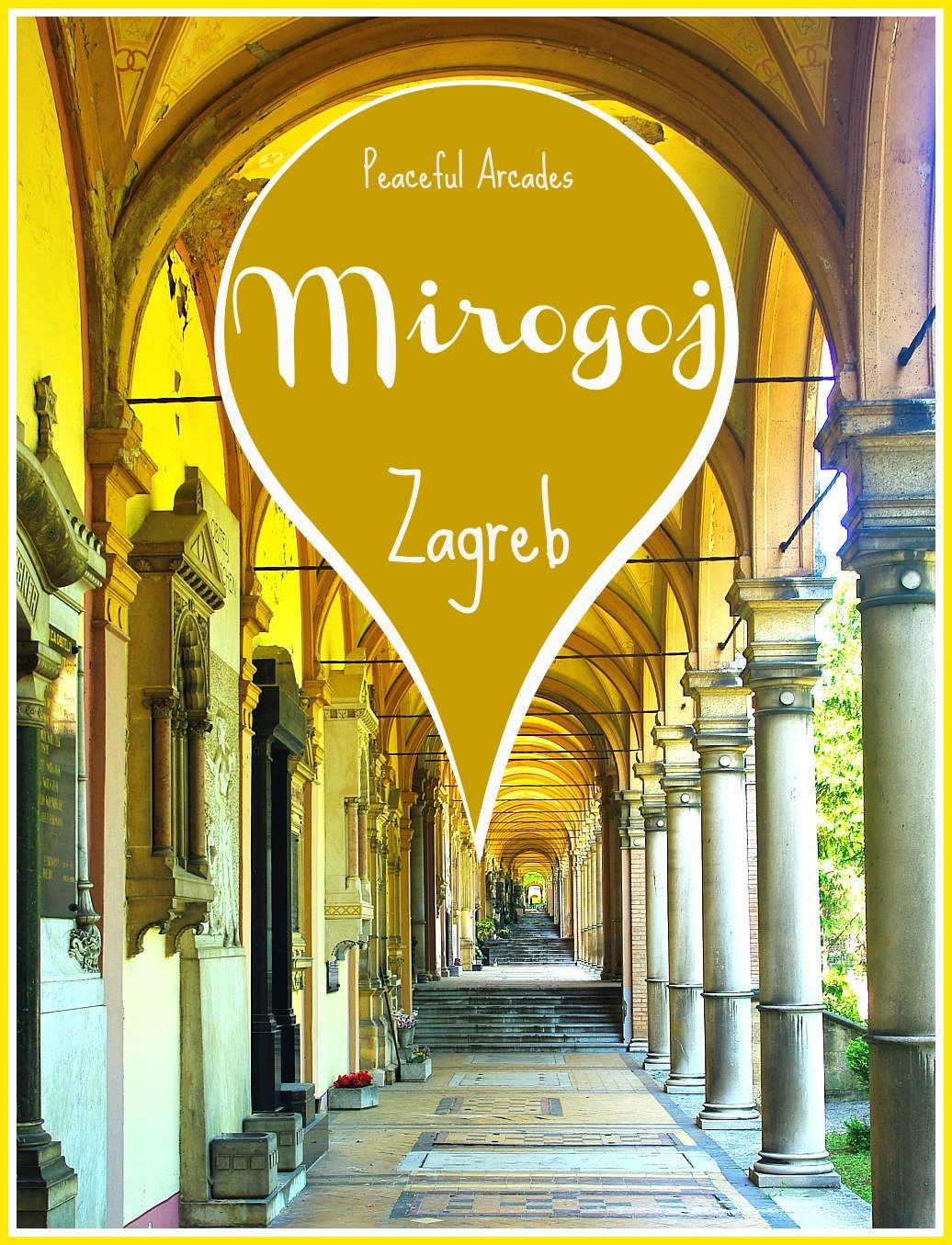 Peaceful Arcades of Mirogoj Cemetery Zagreb