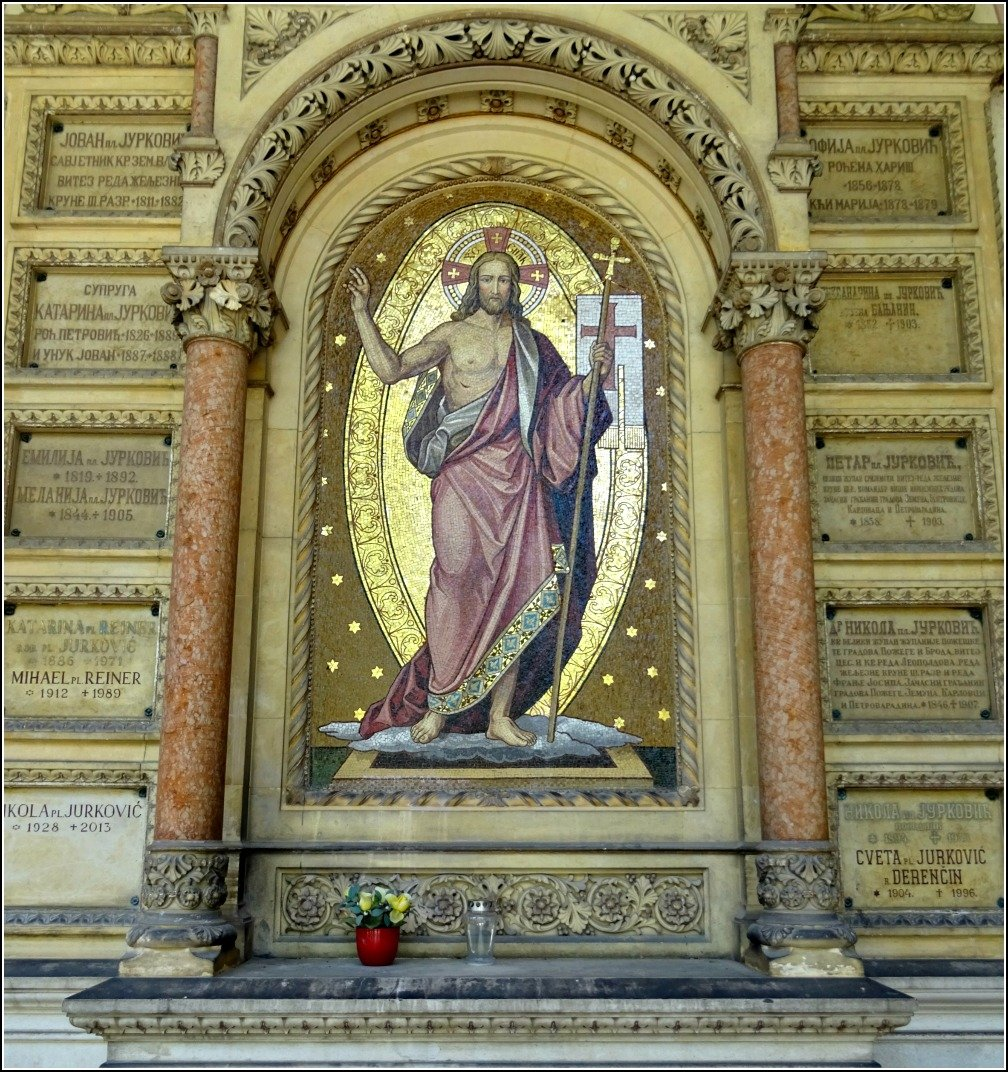 Mirogoj Painting on Arcade Tomb