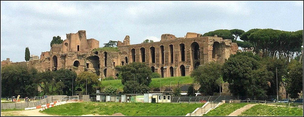 Palatine Hill from Circus Maximus Rome