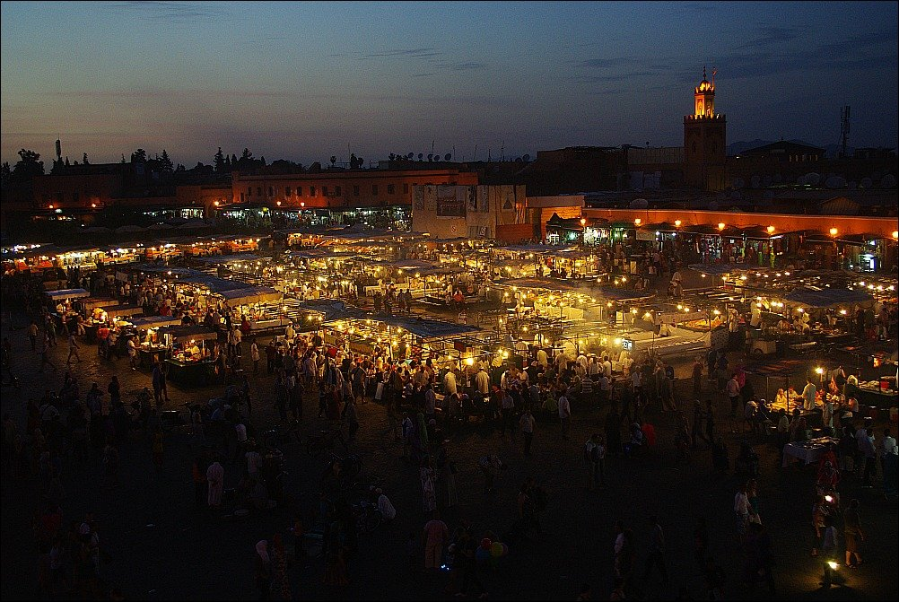 Marrakech Jemaa El Fnaa Food Stalls at night