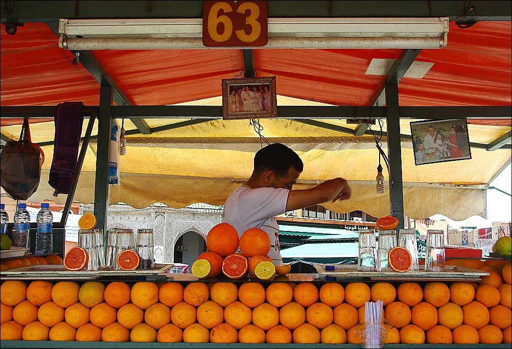 Marrakech Jemaa El Fnaa Orange Juice Vendors