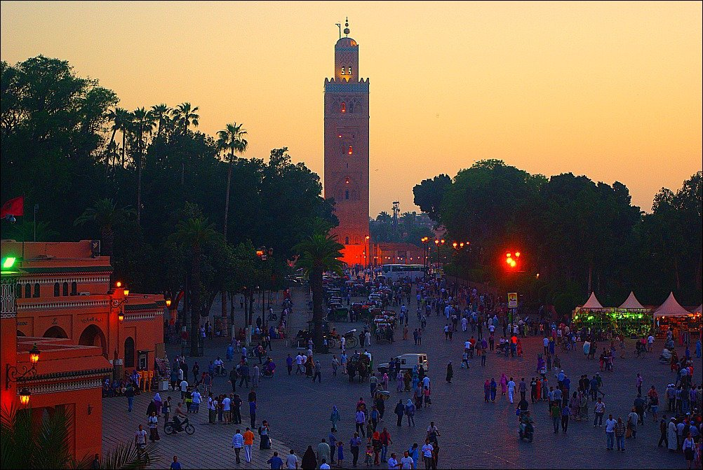 Marrakech Koutoubia Mosque at night