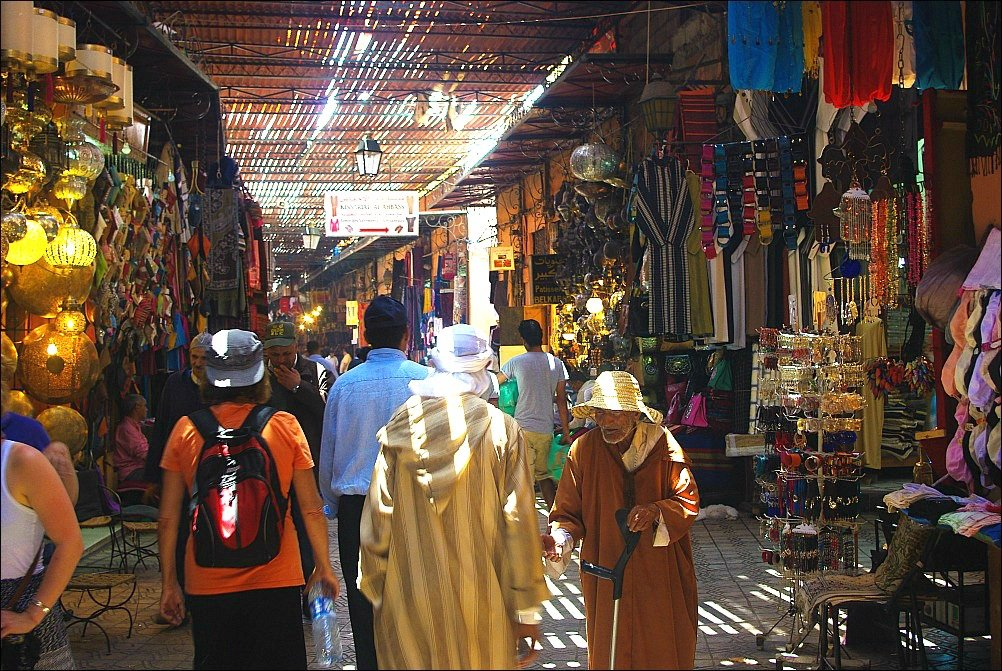 Marrakech Souk slatted roof
