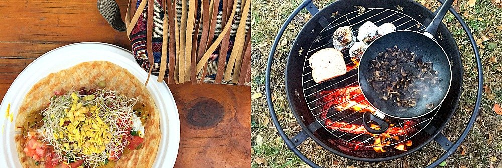At Palm Creek Folk Festival on our girls weekend we eat from the Food Trucks or cook on our fire-pit.