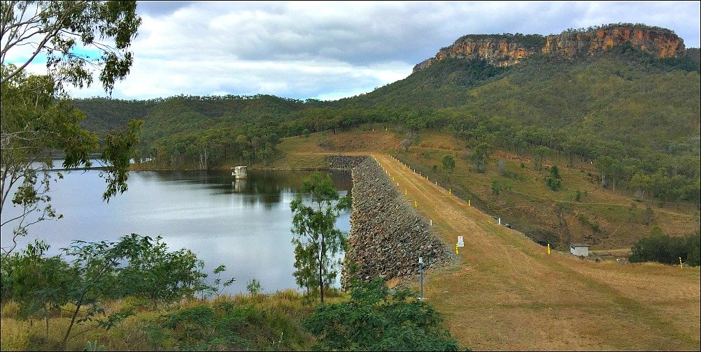 Lake Cania Dam Wall and Castle Mountain