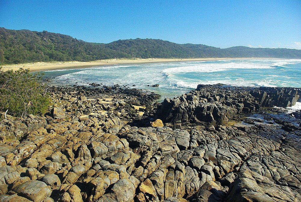 Looking north to Alexandria Bay in Noosa National Park