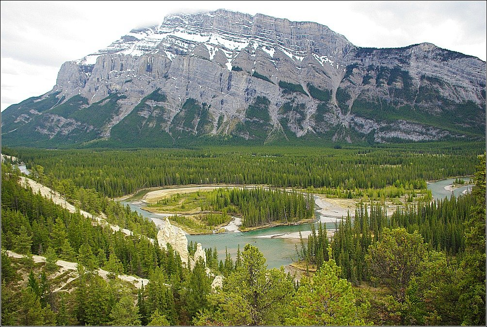 Banff Canada Hoodoos and Bow River
