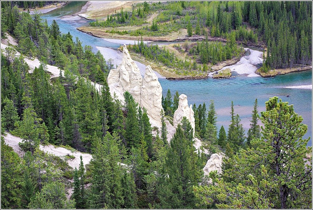 Banff Hoodoos and Bow River