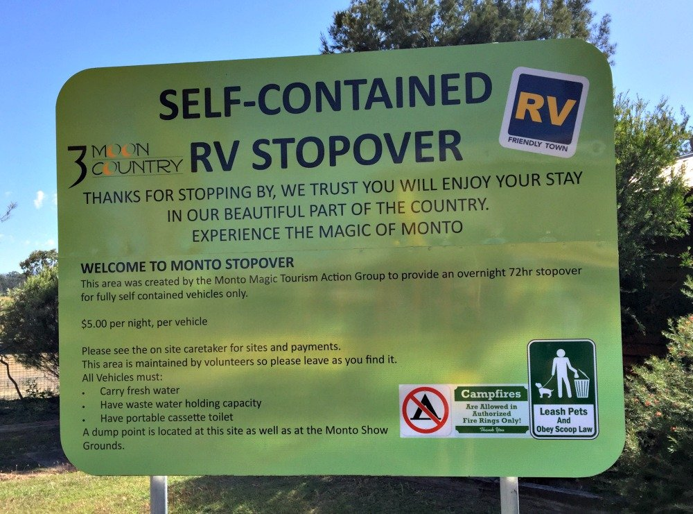 Monto Self-Contained RV Stopover
