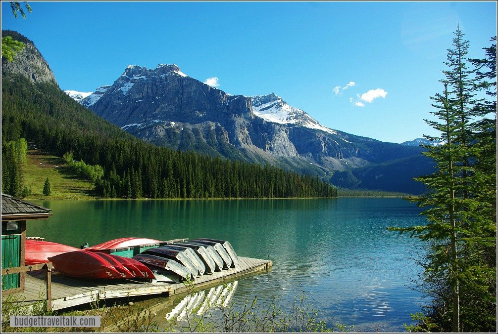 Lake Louise to Emerald Lake Detour - Emerald Lake Boats