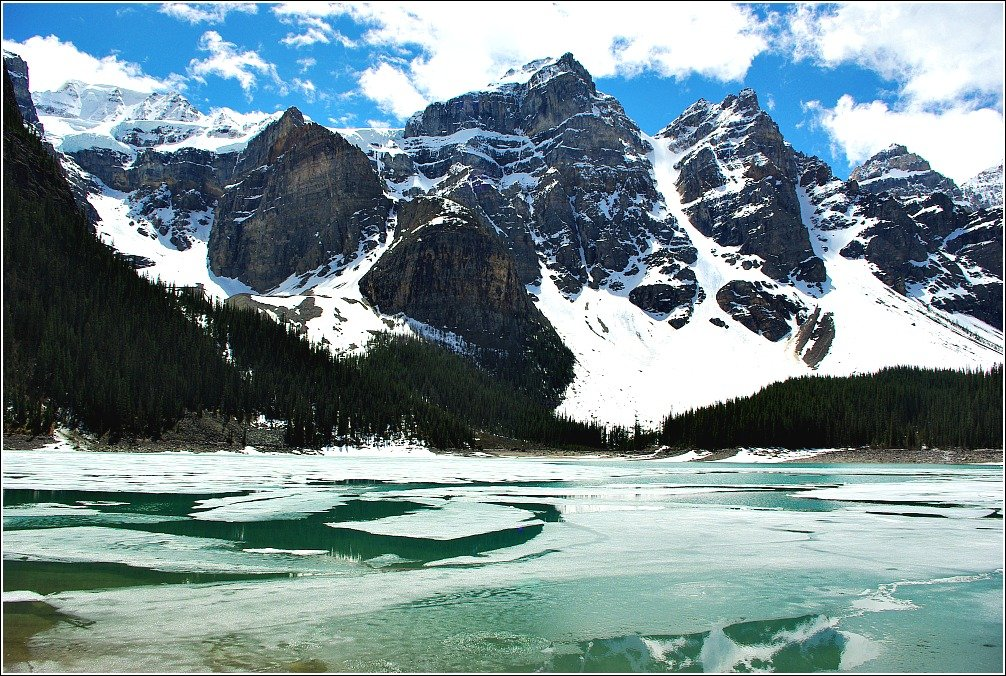 Moraine Lake Melting Canadian Rockies